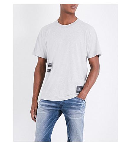 DIESEL T-Wallace-Rb cotton-jersey T-shirt (Light+grey+melange