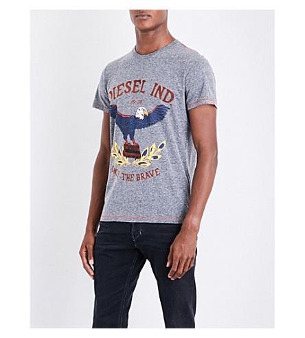 DIESEL T-diego-rp graphic-print jersey T-shirt (Black