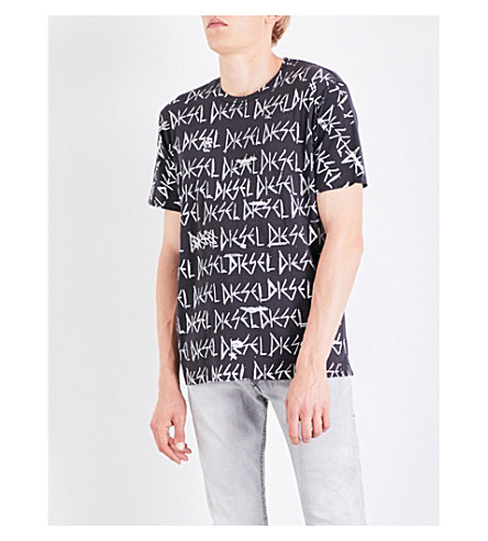 DIESEL T-Joe-Rq cotton-jersey T-shirt (Grey