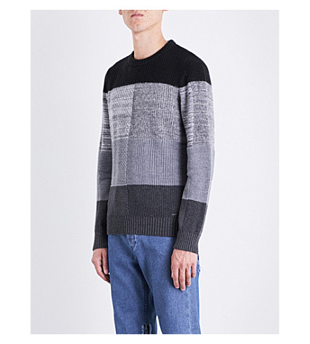 DIESEL K-Evenflow wool and cotton-blend jumper (Black