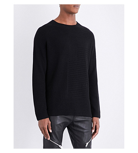 DIESEL K-Troop ribbed knitted jumper (Black