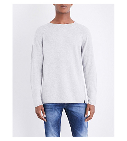 DIESEL K-Cozy knitted jumper (Light+grey+melange
