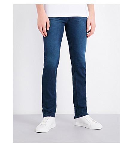 DIESEL Belther 常规版型的锥形牛仔裤 (深色 + 洗涤 + 蓝色