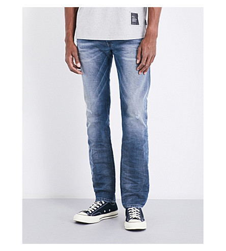 DIESEL Belther slim-fit tapered jeans (Light+wash+blue
