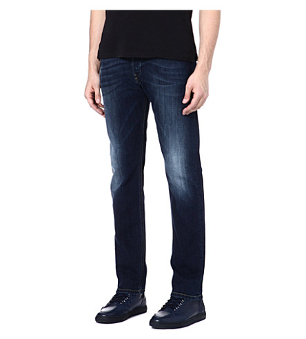 DIESEL Unconventional slim-fit straight jeans (01