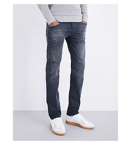DIESEL Belther slim-fit tapered jeans (Medium+wash+blue