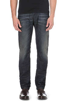 DIESEL Belther 0827K tapered mid-rise stretch-denim jeans