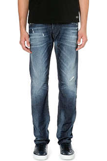 DIESEL Belther 0833W tapered mid-rise stretch-denim jeans