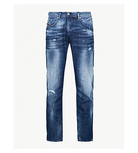 DIESEL Belther distressed slim-fit tapered jeans (Denim