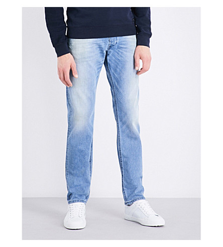 DIESEL Belther regular slim-fit tapered jeans (Light+blue