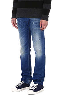 DIESEL Unconventional slim-fit tapered jeans 34