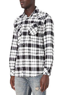 DIESEL Spoltava-R cotton checked shirt