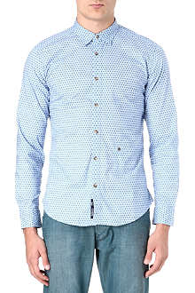 DIESEL Dot print cotton-poplin shirt