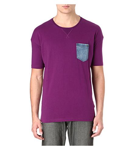DIESEL T-Thunder denim pocket t-shirt (62l