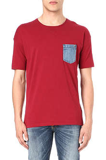 DIESEL T-Thunder denim pocket t-shirt