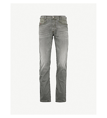 DIESEL Akee slim-fit tapered stretch-denim jeans (Green