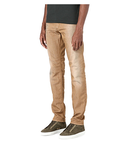 DIESEL Regular slim-carrot fit jeans (Tan