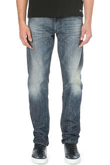 DIESEL Krayver 0814A tapered low-rise denim jeans