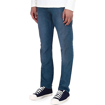 DIESEL Regular-slim carrot-fit straight jeans (Light indigo