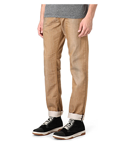 DIESEL Regular-slim carrot-fit straight jeans (Tan