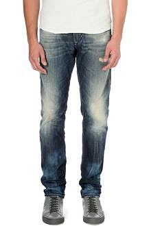DIESEL Krayver 0834B tapered mid-rise denim jeans