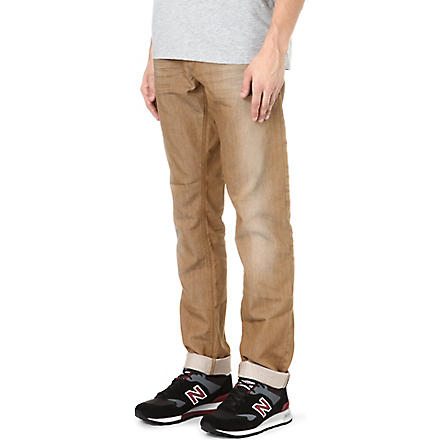 DIESEL Regular-fit slim-carrot jeans (Tan