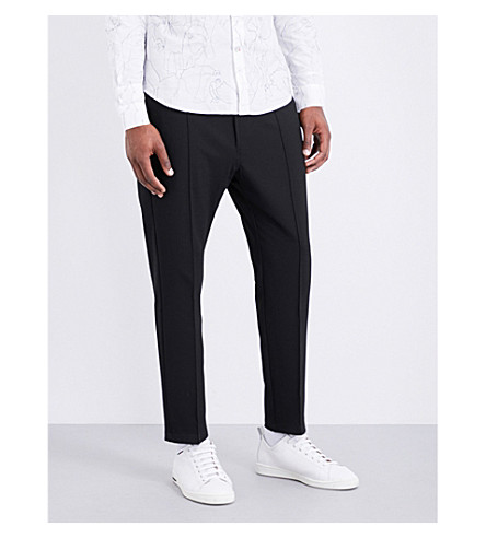 DIESEL P-pointis regular-fit tapered woven trousers (Black
