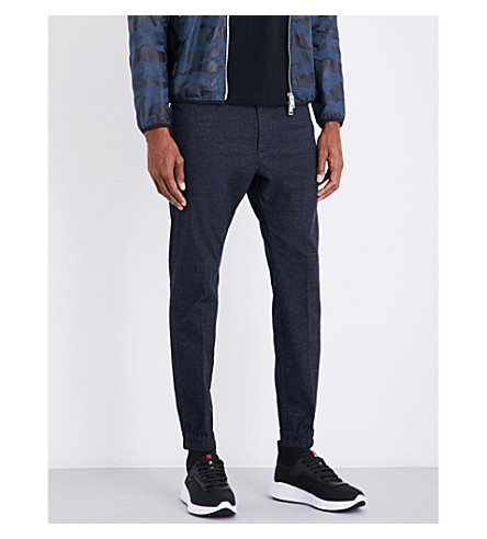 DIESEL Chi-depp tapered cotton-blend trousers (Total+eclipse