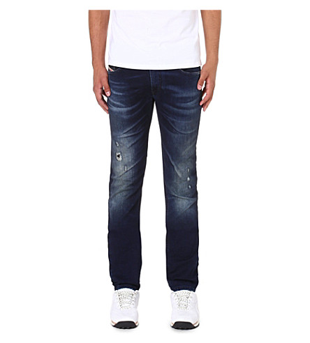 DIESEL Thavar-ne 0607U skinny-fit tapered jogg jeans (Blue