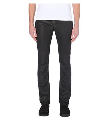 DIESEL Thavar-ne slim mid-rise leather-effect jeans (Denim