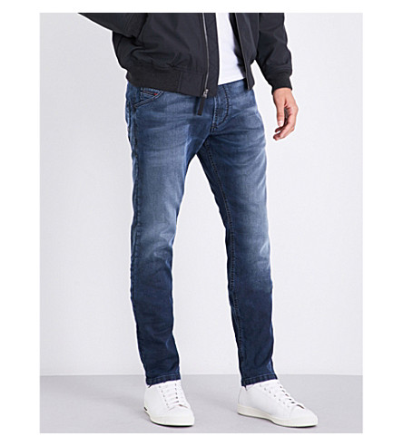 DIESEL Krooley carrot-fit tapered jogg jeans (Medium+wash+blue