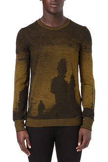 DIESEL Graphic jacquard mixed wool knitted jumper