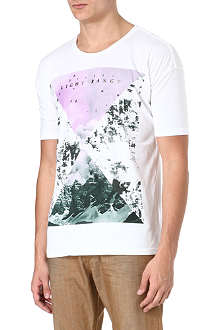 DIESEL Light range mountain print t-shirt