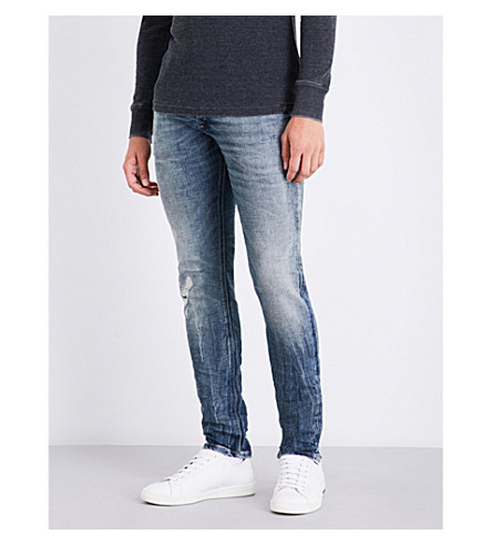 DIESEL Sleenker slim-fit skinny jeans (Light+wash+blue