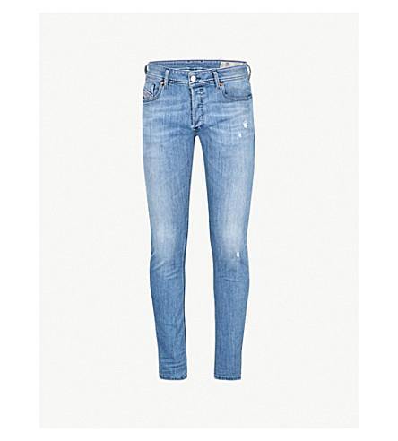 DIESEL Sleenker distressed slim-fit skinny jeans (Denim