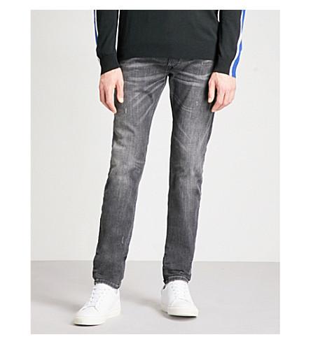DIESEL Sleenker distressed slim-fit skinny jeans (Dark+grey+black