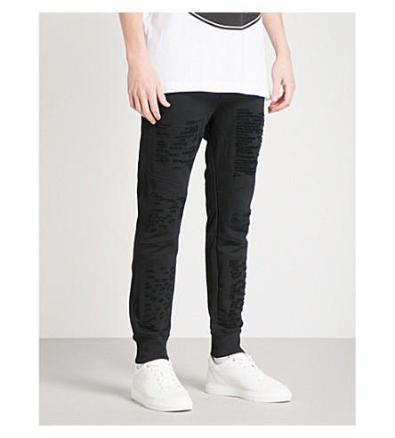 DIESEL P-westin cotton jogging bottoms (Black