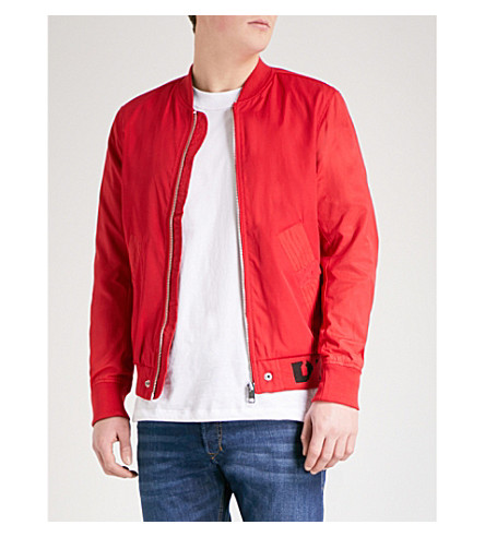 DIESEL J-Gate twill bomber jacket (Tango+red