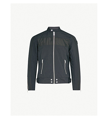 DIESEL J-street tonal-trim shell jacket (Black