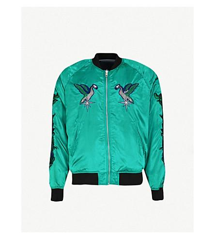 DIESEL J-sine reversible satin and velvet bomber jacket (Bosphorus