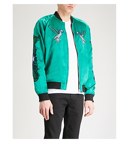DIESEL J-sine reversible satin and velvet bomber jacket (Bosphorus
