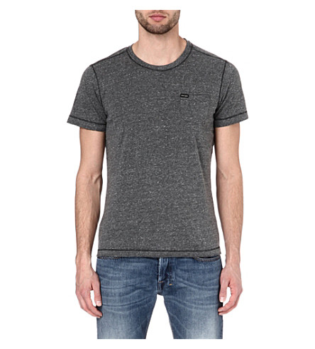 DIESEL Henley t-shirt (99h (black)