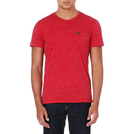 DIESEL Crew-neck marl t-shirt (Red