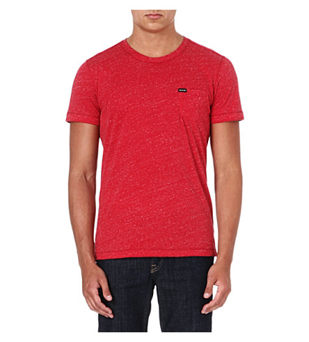 DIESEL Crew-neck marl t-shirt (Red