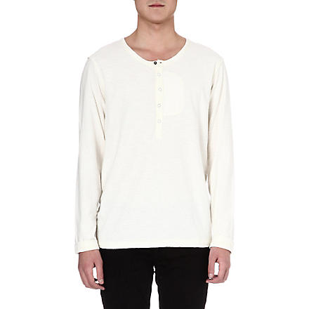 DIESEL Long-sleeved Henley (100 (white)