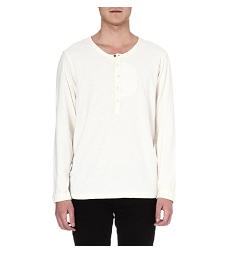 DIESEL Long-sleeved Henley top (100 (white)