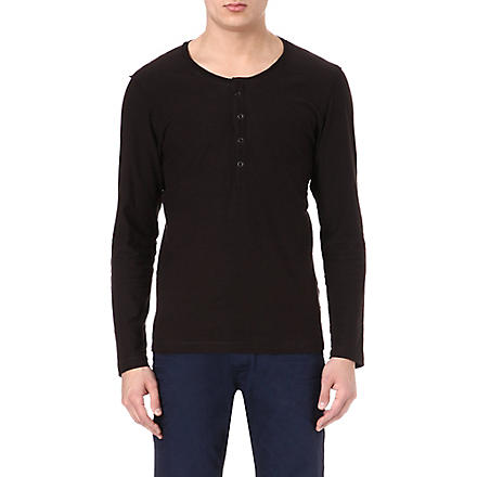 DIESEL Long-sleeved Henley (900 (black)