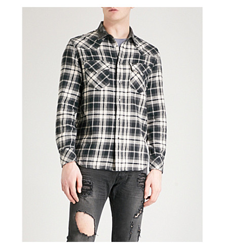 DIESEL S-East checked cotton shirt (Black