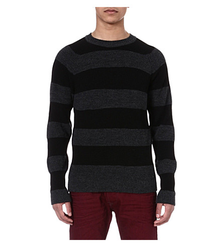 DIESEL Kebisu stripe jumper (900 (black)