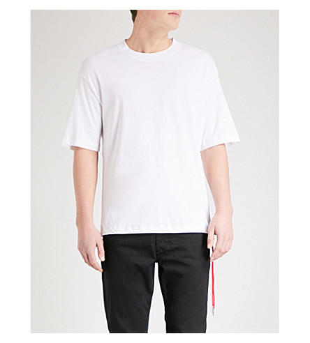 DIESEL T-Plaza cotton-jersey T-shirt (Bright+white